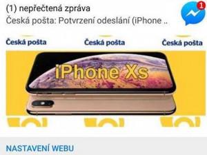 Sociální sítě zaplavila podvodná soutěž o mobilní telefon. Zneužívá jméno České pošty