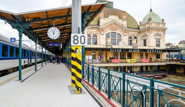 Plzeň zklidní od 4. ledna provoz u hlavního vlakového nádraží