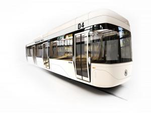 FOTO: Plzeňští studenti jako vizi dopravy ukázali tramvaje bez řidiče