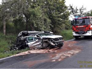 Složky IZS po ránu zasahovaly u dvou těžkých nehod v Plzeňském kraji