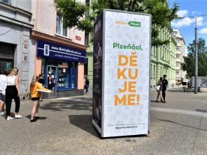 V nové kampani děkuje město Plzeň svým občanům za pomoc v boji proti koronaviru