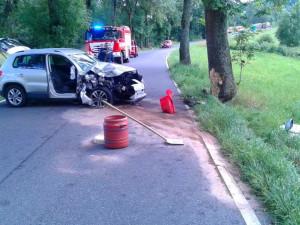 Senior se vážně zranil po nárazu osobáku do stromu, řidička se vyhýbala zvěři
