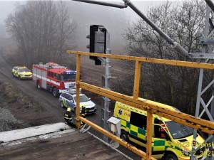Zaměstnance ČD zasáhl při práci na nádraží elektrický proud, utrpěl rozsáhlé popáleniny