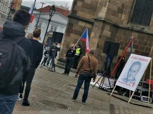 Proti politice prezidenta Miloše Zemana protestovalo v Plzni asi 200 nespokojených občanů