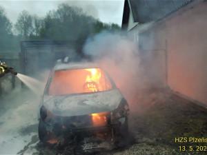 Kuna způsobila požár osobního auta, překousala kabely od elektroinstalace