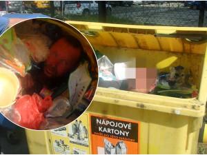 Bezdomovec si ustlal v kontejneru, vylovit ho museli policisté