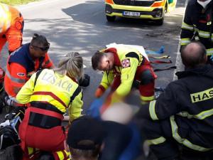 Záchranáři zasahovali u dvou nehod motocyklů v Plzeňském kraji