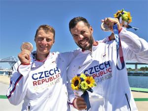 Rodák z plzeňského Koterova Radek Šlouf získal na olympiádě bronz s Josefem Dostálem v závodě deblkajaků
