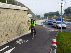 Nová plzeňská ulice Na Sudech umožnila vznik cyklostezky kolem východního okruhu města