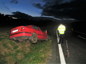 Řidič se snažil zabít v autě otravnou mouchu. Sjel do příkopu, havaroval a zranil se