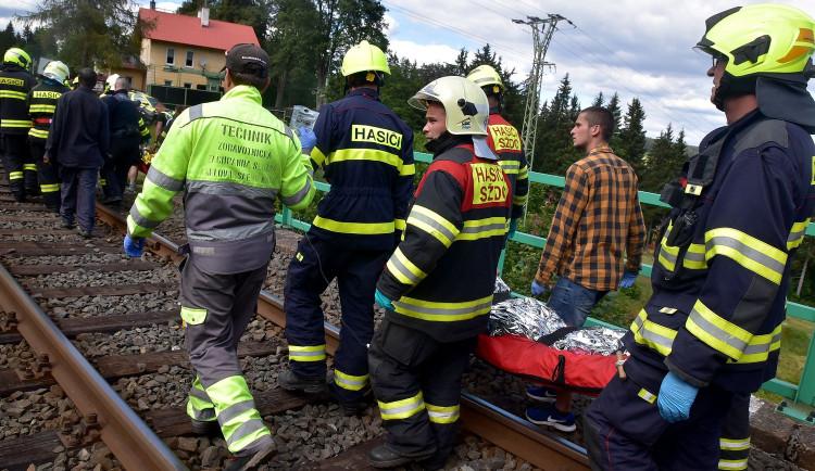 FOTO: Nehoda dvou vlaků u Perninku