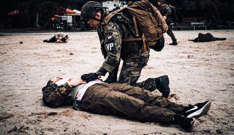 FOTOGALERIE: Zásah proti střelci, policejní cvičení na Ostende